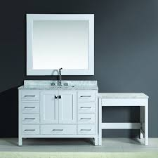 design element london 48 inch white single sink vanity set with
