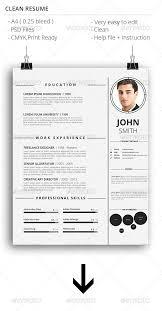 Clean Resume Template Word 155 Premium Cv Resume Templates In Indd Eps U0026 Psd Xdesigns