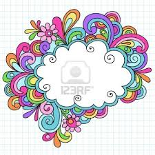 speech bubble hand drawn 8197681 hand drawn psychedelic groovy notebook doodle cloud speech