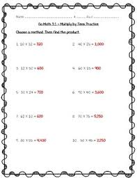 math practice 3 1 4th grade multiply by tens worksheet freebie