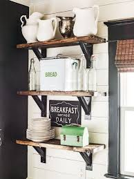 Building Wood Shelves In Pantry by 20 Awesome Farmhouse Decoration Ideas Wooden Floating Shelves