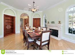 dining room with green walls stock images image 9331444