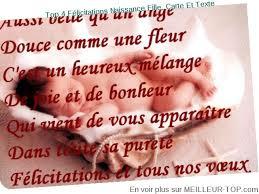 poeme felicitation mariage meilleur top 4 felicitations naissance fille carte et texte