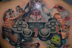 super mario tattoo game design on leg tattoo design ideas