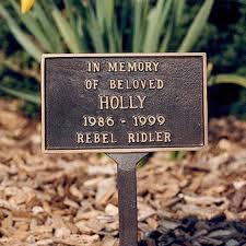 outdoor memorial plaques honour your pet with a freestanding outdoor pet memorial