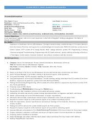 Sample Resume Maintenance Technician by Maintenance Resume Sample Uxhandy Com