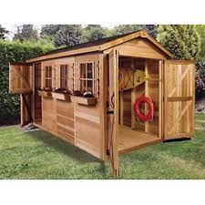 Garden Shed Floor Plans Amazon Com Cedar Shed 12 X 6 Ft Boathouse Garden Shed Home