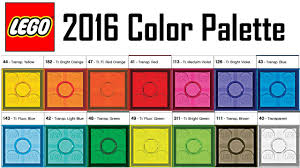lego 2016 color palette every color of lego exclusive look