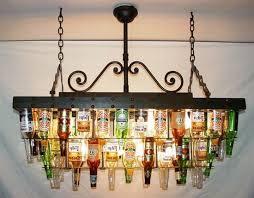 beer bottle light fixture an attractive chandelier made of used beer bottles beer bottle
