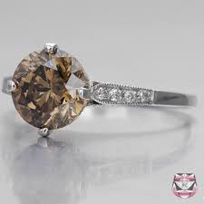 brown diamond engagement ring antique diamond rings 2 03ct fancy dia engagement ring