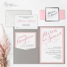 Pocket Fold Invitations Pocket Fold Invitations U2013 Paper Love Cards