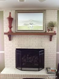 white painted brick fireplaces from brick fireplace to white