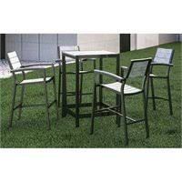 5 Piece Patio Bar Set by Modway Maine 5 Piece Patio Bar Set In White And Light Gray Eei