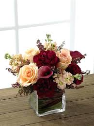 small flower arrangements for tables small flower arrangements for wedding tables peaches and cranberry