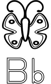 butterfly b alphabet coloring pages alphabet coloring pages of