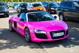 pink audi r8 audi r8 v8 spyder 3 july 2016 autogespot