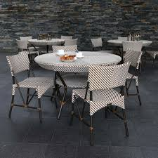 powder coated aluminum outdoor dining table frame bronze powder coated aluminum seat back handwoven