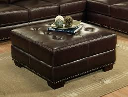 Square Leather Ottoman With Storage by Coffee Table Awesome Large Square Ottoman Leather Tufted Ottoman