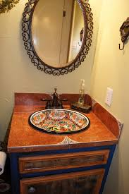 mexican tile bathroom designs downstairs bathroom hand painted mexican sink downstairs bathroom