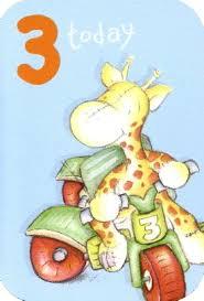 georgie giraffe 3rd birthday card