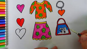 how to draw clothes clothes for girls video for children to