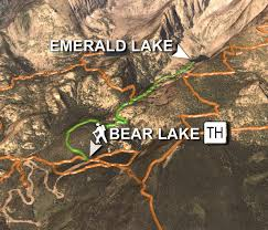 Bear Creek Trail Map Hiking Trails In Heart Of Rocky Mountain National Park