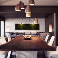Dining Table Ceiling Lights Dining Room Modern Dining Room Decoration With Brown
