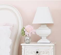 squat shabby chic white table lamp table and bedside lamps