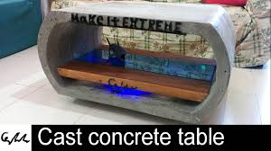 extreme cast concrete coffee table youtube