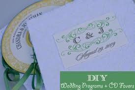 wedding day programs diy program cd favor combo from my own wedding oh lovely day