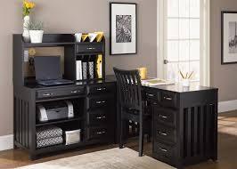 Black Desk With Hutch Hampton Bay Writing Desk U0026 Hutch In Black Finish By Liberty