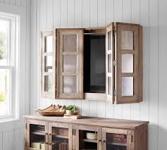 mirror cabinet tv cover grant antiqued mirror tv cover pottery barn