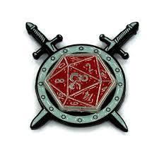 d20 spinner ring cross sword spinner pin