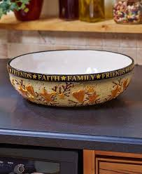 country kitchen collections oversized serving bowl faith family