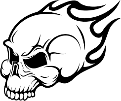 skull fire coloring pages coloringstar