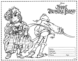 muppet treasure island movie coloring contest gekimoe u2022 32529