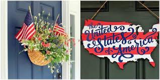 diy american door decor patriotic door decorations