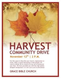 exles of flyers for kickoff ministry harvest community