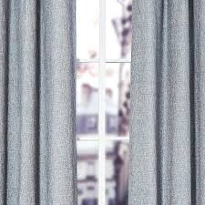 Blue Window Curtains by Blue Linen Blend Tweed Window Curtain U2014 Homier Awesome Home