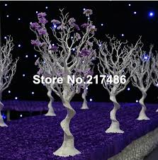 wedding trees no the flower and bead white artificial winter trees