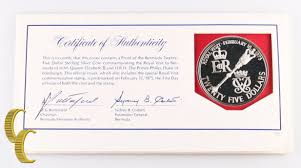 bermuda 25 dollars 1975 royal visit ebay
