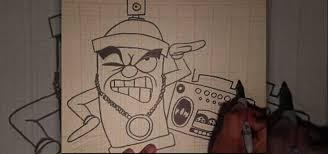 how to draw a gangsta character graffiti u0026 urban art wonderhowto