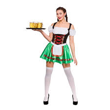 Bavarian Halloween Costumes Ladies Beer Wench Oktoberfest Bavarian Maid Fancy Dress