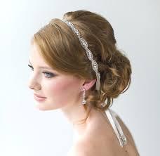 wedding hair with headband wedding hair accessory beaded headband bridal headband