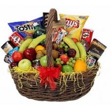 junk food basket fruit gourmet baskets