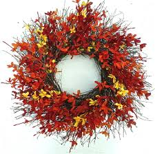 forsythia wreath fall forsythia outdoor door wreath the wreath depot