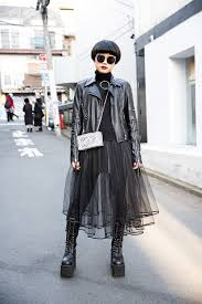leather biker style boots dark harajuku style w glad news biker jacket tulle skirt