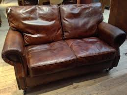 2 Seater Sofa Leather by Tetrad Leather Sofas Leather Chesterfield Sofas