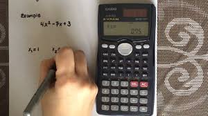 factoring a quadratic equation using a calculator casio fx 991ms you