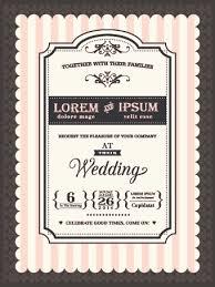 Download Invitation Card Design Retro Wedding Invitations Cards Design Vector 02 Vector Card